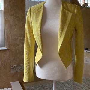 Anthropologie Lace Yellow and nude blazer